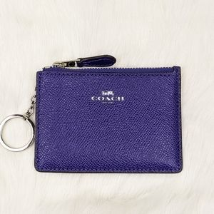 coach mini skinny id case blue